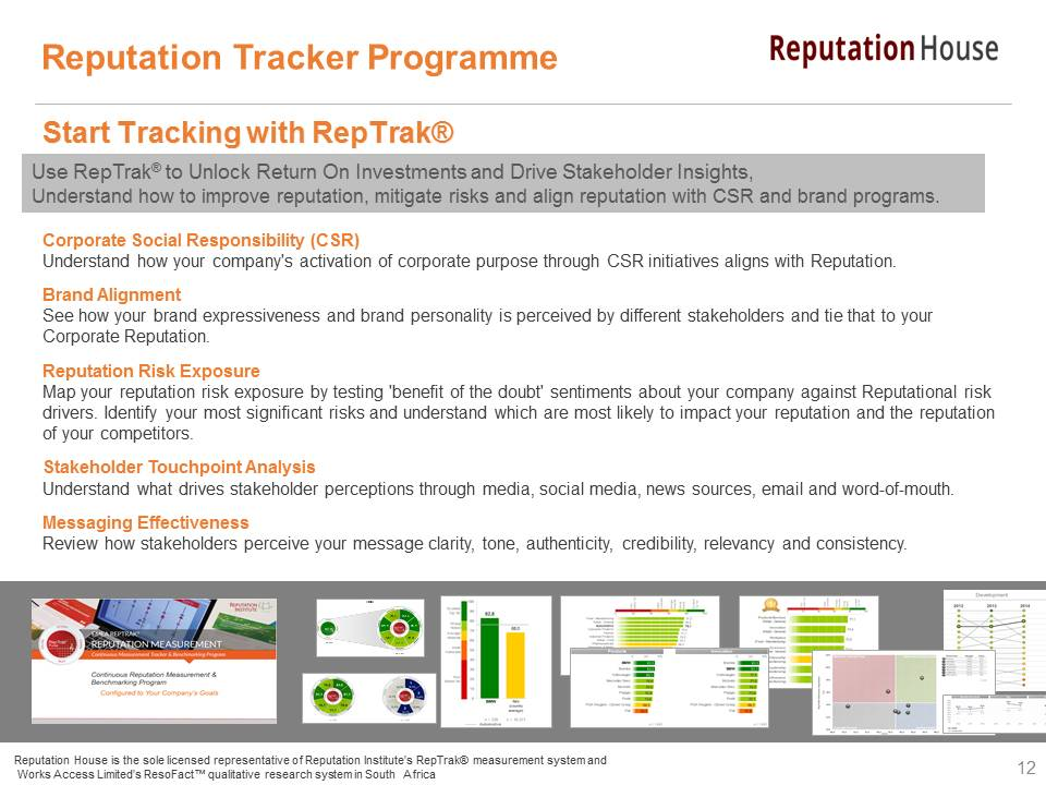 Reputation Tracker Programme_Q1 2016_Members Brief