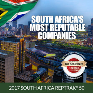 2017 SOUTH AFRICA REPTRAK® 50 The Most Reputable Companies in South Africa @ Webinar